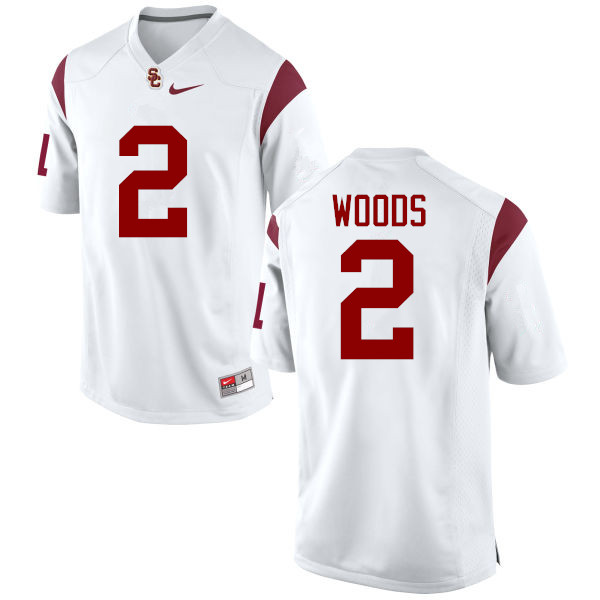 Men #2 Robert Woods USC Trojans College Football Jerseys-White